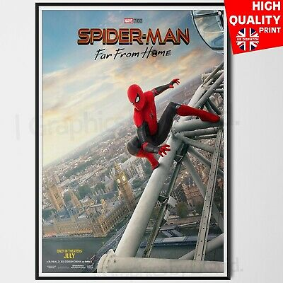 Spider man Far From Home Poster Marvel Comics Movie 2019 Print #4 | A4 A3 A2 A1