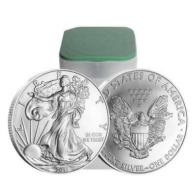 Roll of 20 - 2011 1 Oz Silver American Eagle $1 Coin (Brilliant Uncirculated)#A8