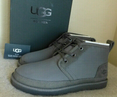 de611a8afcf UGG NEUMEL RIPSTOP Chukka Waterproof Charcoal Gray Men's Boot Size 6 New In  Box