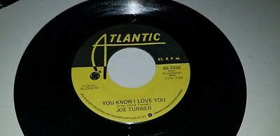 "JOE TURNER Shake Rattle And  You Know I Love ATLANTIC 1026 45 VINYL 7"" RECORD"