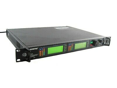 Shure UR4D J5 578-638MHz UHF-R Dual Channel Wireless Microphones Receiver System