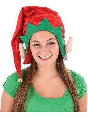 526bed293042c Adults Christmas Santa s Toy Shop Elf Red Hat With Ears Costume Accessory