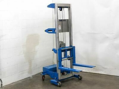 GENIE LIFT GL-8 Material Lifter 400 LBS Hand Crank Straddle with Counter  Weight