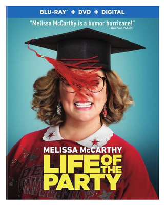 Life of the Party (Blu-ray, DVD, Digital) Brand New