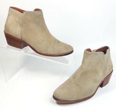 83b6722af0d5 SAM EDELMAN PETTY Chelsea Ankle Boots Bootie Taupe Suede Leather 4.5 ...