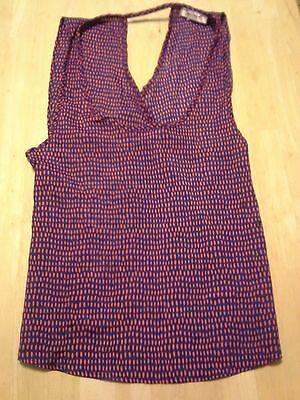 MISOPE-Women's-Sexy Tank-Navy Blue & Red-Sleeveless-Top-Small