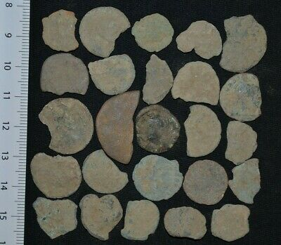 Group of 25 Ancient Roman Imperial Bronze coins, circa 250-350 Ad Detector Finds