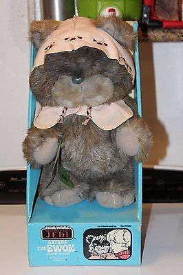 1980's vintage star wars return of the jedi Latara ewok stuffed figure (RARE)