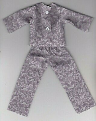 Doll Clothes-Pink and Blue Tiny Floral Print Pajamas fits Barbie-Homemade BP1