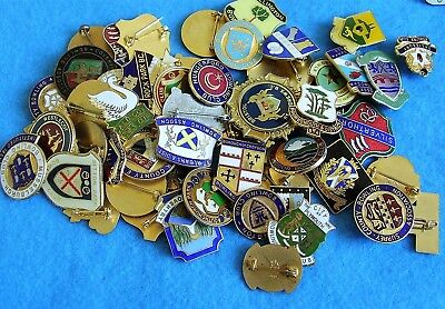 Bowling pin badges collection all different charity LOT 3