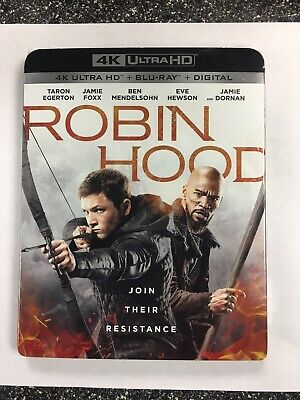 ROBIN HOOD (4K Ultra HD/Blu-ray/Digital, 2019) * w/ SLIPCOVER * SEALED!!