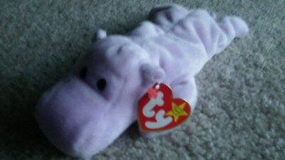0bea2c31d94 TY BIG KISS the HIPPO BEANIE BABY - NEW - MINT with MINT TAG ...