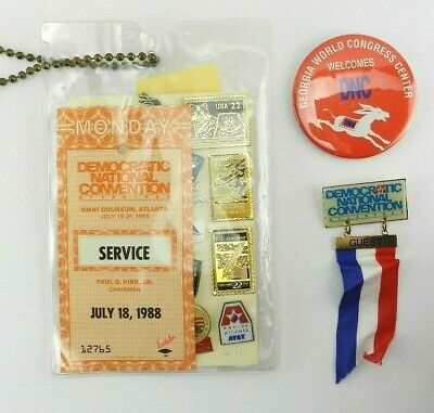 1988 Democratic Convention Lot Pins Guest