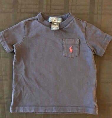 Ralph Lauren Baby Boy Short Sleeve Polo Tee Size 9M