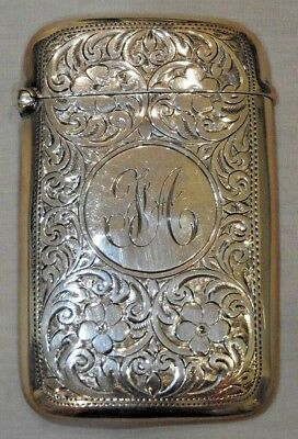 Antique Birmingham, England Sterling Silver Card Case