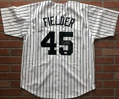 8396f658 Cecil Fielder autographed signed jersey MLB New York Yankees JSA w/ COA