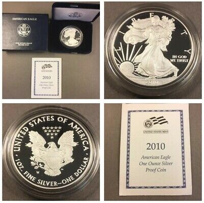 2010 American Silver Eagle Proof - With Box & COA