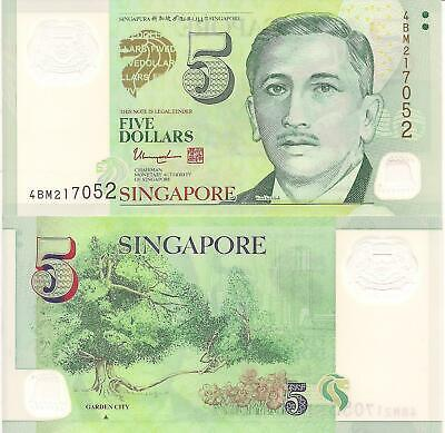 SINGAPORE 5 DOLLARS Banknote World Paper Money UNC Currency BILL Pick p47c  2004
