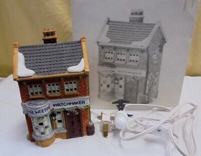 NEW GEO WEETON WATCHMAKER HOUSE #59269 Dickens Heritage Villiage DEPT 56