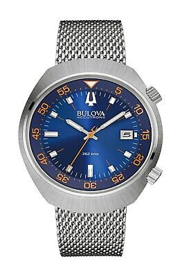 Bulova Accutron II Men's 96B232 Quartz Blue Dial Mesh Bracelet 43mm Watch