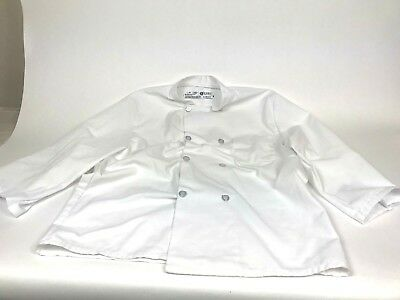Chefs Coat White Button Up Size Large Unisex culinary apron