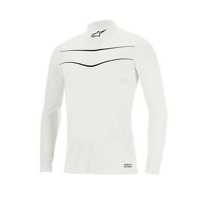Alpinestars RACE Longsleeve Top white/black (FIA homologation) - Genuine - XL