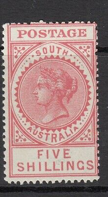 SOUTH AUSTRALIA 1906-12 5/- BRIGHT ROSE SG 305 Mounted mint