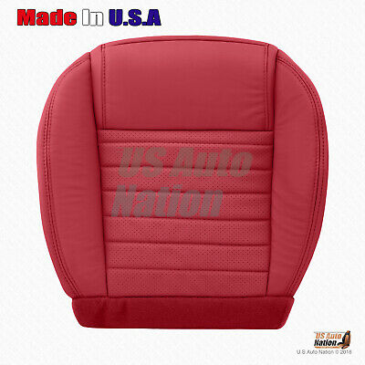 2007 2008 Ford Mustang Gt Driver Bottom Black Perforated Leather Seat Cover Red