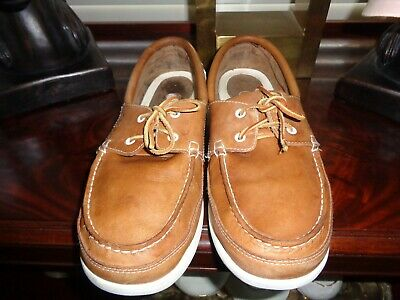 74c119c8cb95 CROCS MENS ISLANDER Boat Shoes Leather Sz 13 Lace Up Dark Brown ...