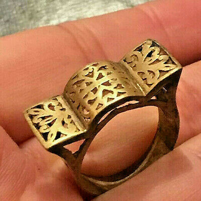 EXTREMELY Ancient VIKING BRONZE RING vintage museum quality ARTIFACT
