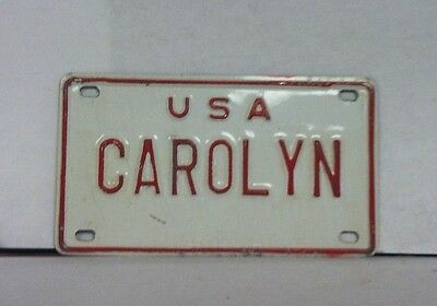 """USA - Small Personalized License Plate (CAROLYN) 4"""" x 2 1/2"""""""