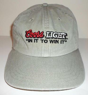 Coors Light Beer Baseball Cap Hat In it to win it Embroidered NASCAR One Size