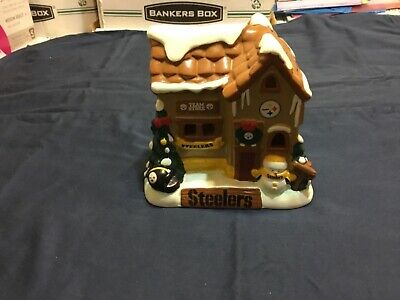 PITTSBURGH STEELERS CHRISTMAS Village Ceramic House, Team Store