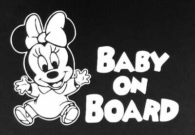 Baby On Board Funny Car Child Children Window Bumper Sticker Vinyl