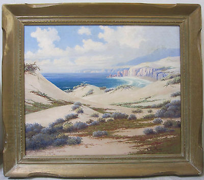 Early 20th Century Santa Barbara CA Oil Painting Listed Artist Signed Seascape