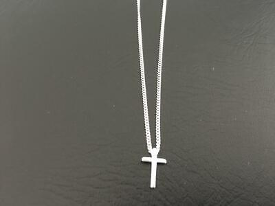 925 Sterling Silver Small Cross Necklace Child Girl Boy Men Women Sterling Chain