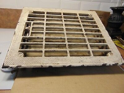 vintage /  antique  cast iron floor grate #   6271