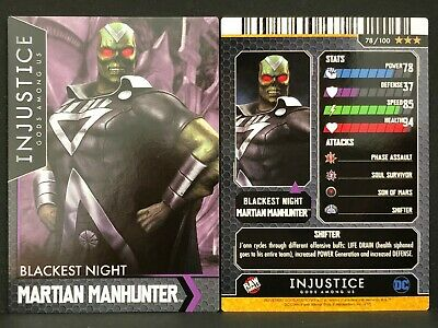 Injustice Arcade Dave and Busters Card 77 Martian Manhunter