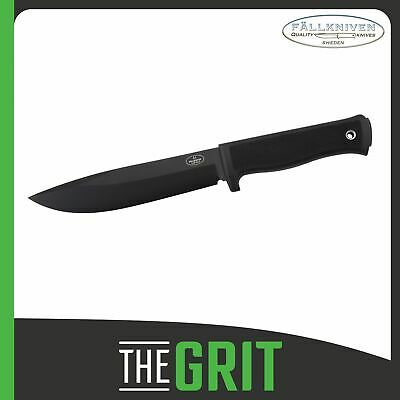Fallkniven A1bz Black Blade Knife w/ Zytel Sheath