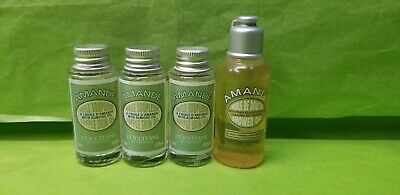 L'occitane  Almond Shower Oil And Supple Skin Oil Travel Size Lot Of 4