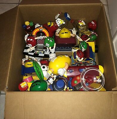 M&M Collection of 13 Collectible  M&M Candy dispensers - USED