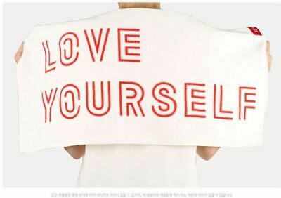 Bangtan Boys BTS World Tour LOVE YOURSELF Official Goods Towel White Red Japan