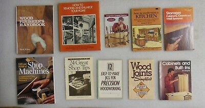 Lot of 10 - WOODWORKING / CABINET MAKING BOOKS - Projects & Know How - clean!