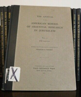 Bulletin of the American Schools of Oriental Research Annuals 1920-1939 (I-XIX)!