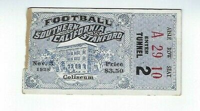 Original Vintage 1928 USC vs Stanford TICKET STUB