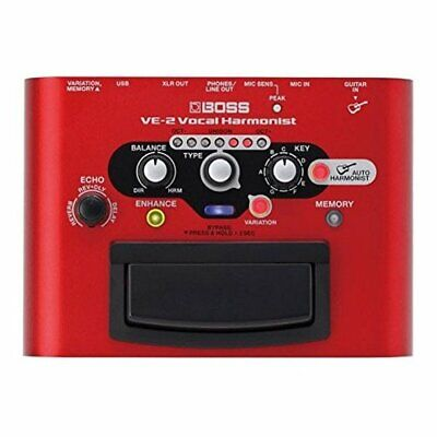 Boss VE-2 Vocal Harmonist Vocal Stompbox with Effects and Guitar-Driven Harmonie