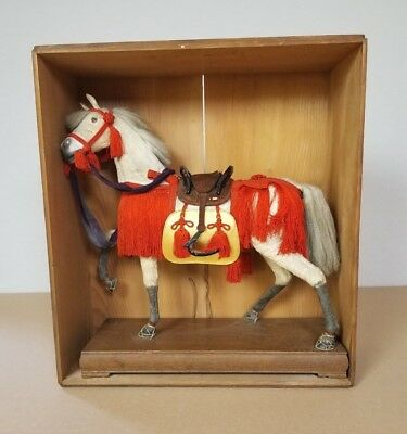 Antique Japanese horse boys day ningyo Hina Matsuri doll Taisho Period