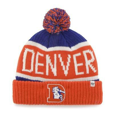 0c42f63d1d6 47 Brand Denver Broncos Co Pro Orange Blue Nfl Pom Beanie Team Cuff Cap Hat  New