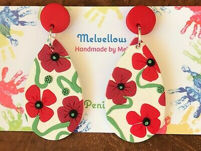 Poppy Flowers dangle Melvellous earrings