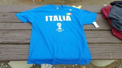 1ffe130fe0c Italia Soccer Italy FIFA World Cup Brazil 2014 Large T-shirt New NWT Blue